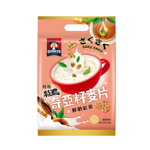 桂格奶茶奇亞籽麥片30GX10包