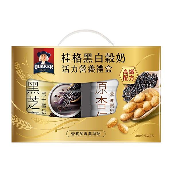 桂格黑白穀奶超級營養禮盒390GX2罐