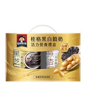 桂格黑白穀奶超級營養禮盒