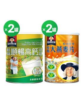 高鈣順暢奶粉1500G+即食大燕麥片1100G