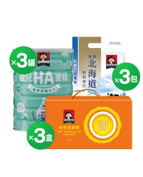 順暢敏兒麥精+北海道鮮奶麥片+滴雞精