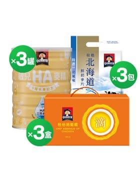 順暢水果麥精+北海道鮮奶麥片+滴雞精